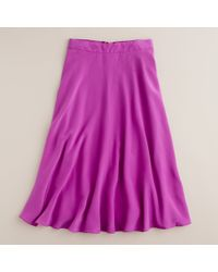 J.Crew | Pink Liquid Silk Skirt | Lyst