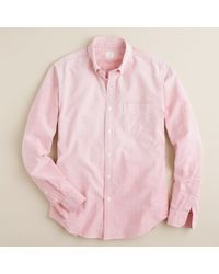 J.Crew | Pink Sun-faded Solid Oxford Shirt for Men | Lyst