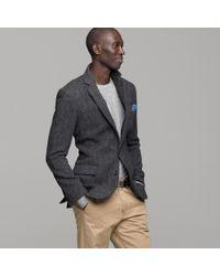 J.Crew | Gray Buckley Herringbone Sportcoat in Ludlow Fit for Men | Lyst