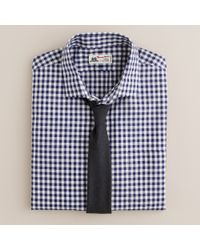 J.Crew | Blue Thomas Mason® Fabric Spread-collar Dress Shirt in Navy Gingham for Men | Lyst