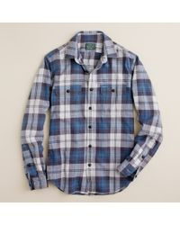 J.Crew | Blue Vintage Flannel Shirt in Collins Plaid for Men | Lyst