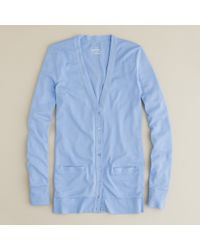 J.Crew | Blue Perfect-fit Mixed-tape Cardigan | Lyst