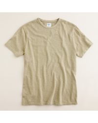 J.Crew | Natural 16/20s Heavyweight Tee for Men | Lyst