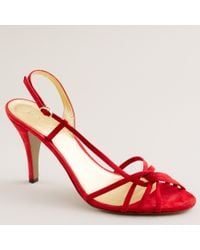 J.Crew | Red Rory Strappy Sandals | Lyst