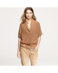 J.Crew | Natural Cropped City Sweater | Lyst
