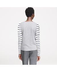J.Crew | Gray Vintage Cotton Baseball Tee in Stripe | Lyst
