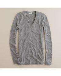 J.Crew | Gray Tissue Long-sleeve V-neck Tee | Lyst