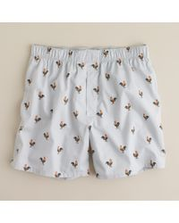 J.Crew | Gray Rooster Boxers for Men | Lyst