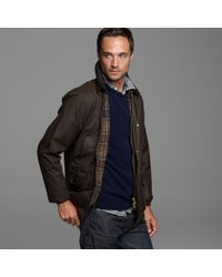 J.Crew - Brown Barbour Sylkoil Bedale Jacket for Men - Lyst