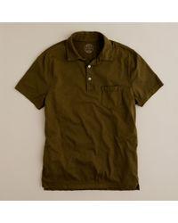 J.Crew | Green Broken-in Pocket Polo for Men | Lyst