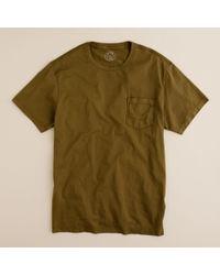J.Crew | Green Broken-in Pocket Tee for Men | Lyst