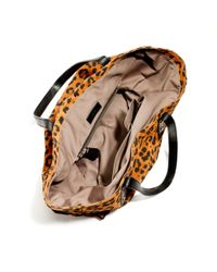 J.Crew | Brown Newsstand Tote in Leopard Suede | Lyst