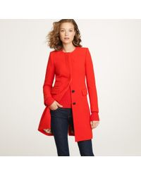 J.Crew | Red Double-cloth Symphony Coat | Lyst