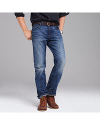 J.Crew | Blue Bootcut Jean In Vintage Worn Wash for Men | Lyst