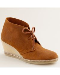 J.Crew | Brown Macalister Wedge Boots | Lyst