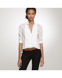 J.Crew | White Tuxedo Shirt in Thomas Mason® Fabric | Lyst
