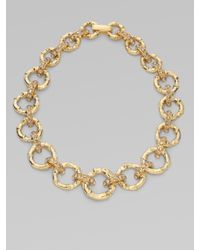 Kate Spade | Metallic Bamboo Link Necklace | Lyst