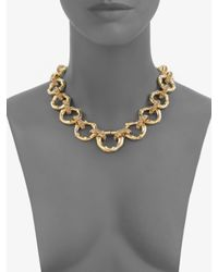kate spade new york | Metallic Bamboo Link Necklace | Lyst