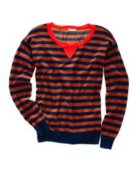 Madewell - Blue Striped Sweatshirt Sweater - Lyst