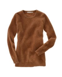 Madewell | Brown Alexa Chung For Graham Crewneck Sweater | Lyst