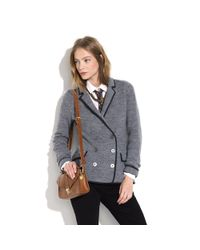 Madewell | Gray Sweater Blazer | Lyst