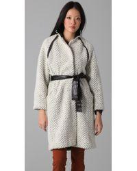 Sachin & Babi - White Leather-detail Elizabeth Jacket - Lyst