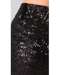 Alice + Olivia   Black Paula Sequin-embellished Stretch-jersey Pants   Lyst