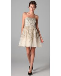 Alice + Olivia | Metallic Tallulah Sequined Party Dress | Lyst