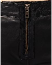 ASOS Collection - Metallic Asos Panel Zip Leather Skinny Trousers - Lyst