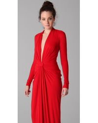 Issa | Red Long Sleeve Open Back Dress | Lyst
