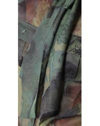 L.A.M.B. - Natural Print Tie Neck Blouse - Lyst