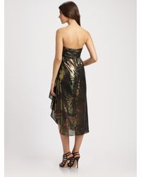 Marc By Marc Jacobs | Black Mimosa Lamé Strapless Dress | Lyst