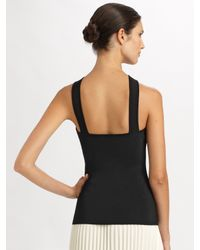 Ralph Lauren Black Label - Black Knit Halter Top - Lyst