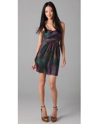 Shoshanna | Multicolor Draped Strapless Dress | Lyst