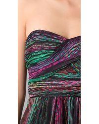 Shoshanna | Multicolor Draped Strapless Dress | Lyst