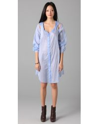 Therese Rawsthorne | Blue Twist Smock Dress | Lyst