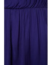TOPSHOP - Purple Short Sleeve Midi Dress - Lyst