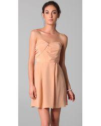Zimmermann | Natural Strapless Tucked Dress | Lyst