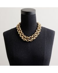J.Crew | Metallic Double-row Mini-link Necklace | Lyst