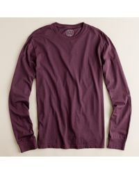J.Crew | Purple Broken-in Long-sleeve Tee for Men | Lyst