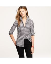 J.Crew | Black Perfect Shirt in Gingham | Lyst