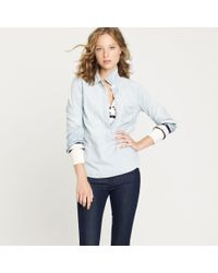 J.Crew | Blue Faded Chambray Popover | Lyst
