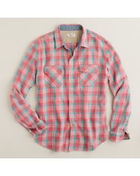 J.Crew | Brown Wallace & Barnes Heavyweight Flannel Shirt in Belleston Plaid for Men | Lyst