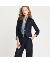 J.Crew | Blue Aubrey Jacket in Pinstripe Super 120s | Lyst