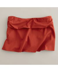 J.Crew | Red Cinched Beach Skirt | Lyst