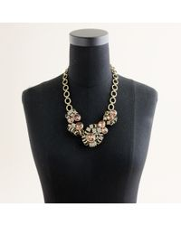J.Crew | Pink Crystal Brûlée Statement Necklace | Lyst