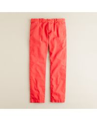 J.Crew | Red Stanton Pant in 484 Slim Fit for Men | Lyst