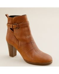 J.Crew | Brown Emmett High-heel Ankle Boots | Lyst