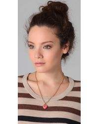 Marc By Marc Jacobs - Pink Heart Charm Pendant Necklace - Lyst