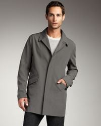 Theory | Gray Lightweight Topcoat for Men | Lyst